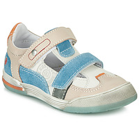 Skor Pojkar Sneakers GBB PRINCE Vit / Beige / Blå