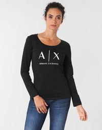 textil Dam Långärmade T-shirts Armani Exchange 8NYTDG-YJ16Z-1200 Svart