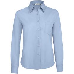 textil Dam Skjortor / Blusar Sols EXECUTIVE POPELIN WORK Azul