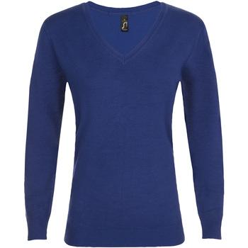 textil Dam Tröjor Sols GLORY SWEATER WOMEN Azul