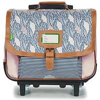 Väskor Flickor Skolväskor på hjul Tann's CREATION FLORE TROLLEY CARTABLE 38 CM Rosa
