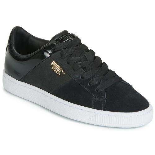 Skor Dam Sneakers Puma BASKET REMIX Svart / Guldfärgad