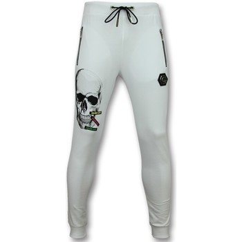 textil Herr Joggingbyxor Enos Heren Sportbroek Joggingbroek Kopen Color Skull Wit Vit