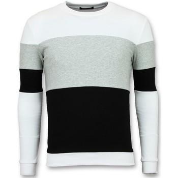 textil Herr Sweatshirts Enos Köp Stripe Swea FWG Vit, Grå