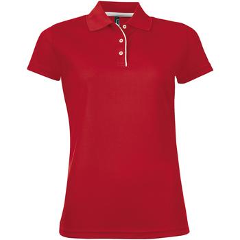 textil Dam Kortärmade pikétröjor Sols PERFORMER SPORT WOMEN Rojo