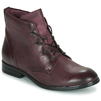 Skor Dam Boots Dream in Green LAMPEDI Bordeaux