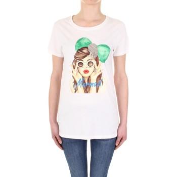 textil Dam T-shirts Vicolo RU0081 Panna