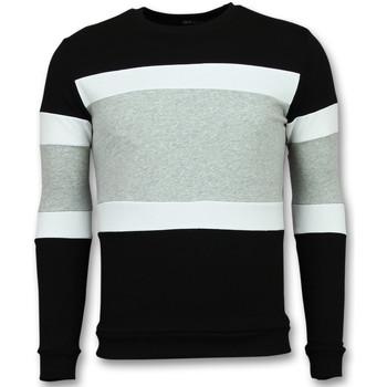 textil Herr Sweatshirts Enos Stripade Tjock FGZ Svart, Grå