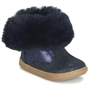 Skor Flickor Boots Shoo Pom BOUBA FUR BOOTS Marin