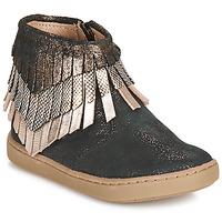 Skor Flickor Boots Shoo Pom PLAY HURON Svart / Silverfärgad