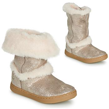 Skor Flickor Boots Shoo Pom PLAY MOOT Silverfärgad