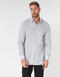 textil Herr Långärmade skjortor HUGO ELISHA02 Grå