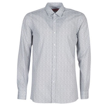 textil Herr Långärmade skjortor BOSS ELISHA02 Grå