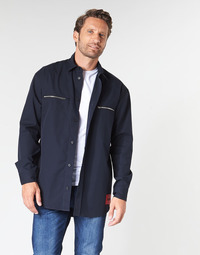 textil Herr Långärmade skjortor HUGO ETRUS Marin