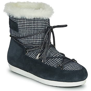 Skor Dam Vinterstövlar Moon Boot MOON BOOT FAR SIDE LOW FUR TARTAN Marin