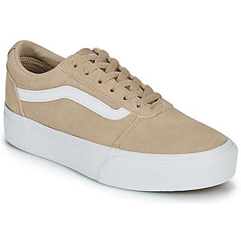 Skor Dam Sneakers Vans WARD PLATFOR BE Beige