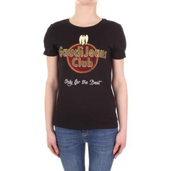textil Dam T-shirts Gaudi 911BD64039 Nero