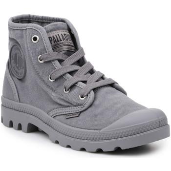 Skor Herr Höga sneakers Palladium Manufacture Lifestyle shoes  US Pampa Hi Titanium 92352-011-M grey
