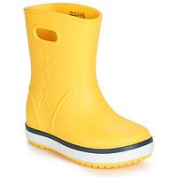 Skor Barn Gummistövlar Crocs CROCBAND RAIN BOOT K Gul / Marin