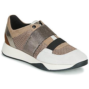 Skor Dam Sneakers Geox D SUZZIE Mullvadsfärgad / Silverfärgad