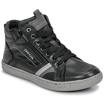Skor Pojkar Höga sneakers Geox JR GARCIA BOY Svart / Grå