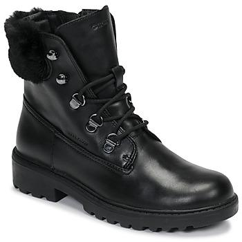 Skor Flickor Boots Geox J CASEY GIRL WPF Svart