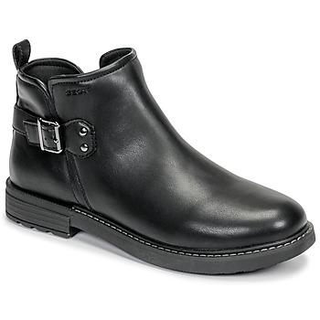 Skor Flickor Boots Geox J ECLAIR GIRL Svart
