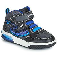 Skor Pojkar Höga sneakers Geox J INEK BOY Svart / Blå