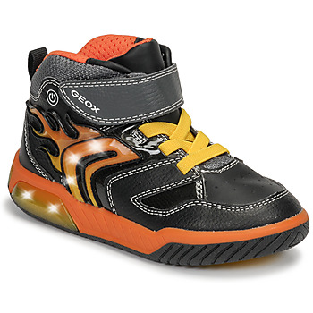 Skor Pojkar Höga sneakers Geox J INEK BOY Svart / Orange