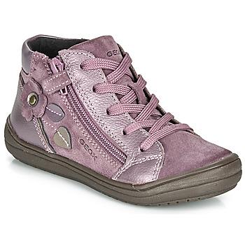 Skor Flickor Boots Geox J HADRIEL GIRL Plommon