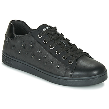 Skor Flickor Sneakers Geox J DJROCK GIRL Svart