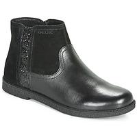 Skor Flickor Boots Geox J SHAWNTEL Svart