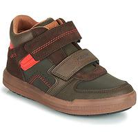 Skor Pojkar Höga sneakers Geox J ARZACH BOY Brun / Orange