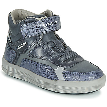 Skor Pojkar Höga sneakers Geox J ARZACH BOY Blå / Grå