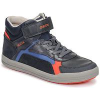 Skor Pojkar Höga sneakers Geox J ARZACH BOY Blå / Orange