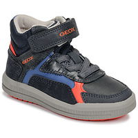 Skor Pojkar Höga sneakers Geox J ARZACH BOY Blå / Orange