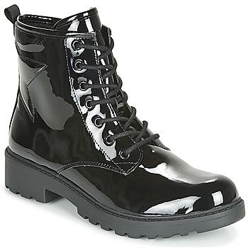 Skor Flickor Boots Geox J CASEY GIRL Svart