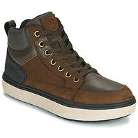 Skor Pojkar Höga sneakers Geox J MATTIAS B BOY ABX Kaffe / Svart