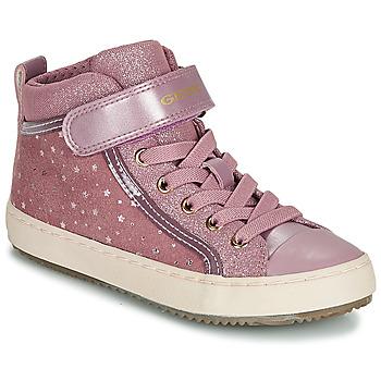 Skor Flickor Höga sneakers Geox J KALISPERA GIRL Rosa