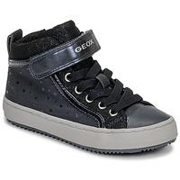 Skor Flickor Höga sneakers Geox J KALISPERA GIRL Blå