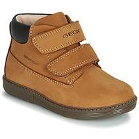 Skor Pojkar Höga sneakers Geox B HYNDE BOY WPF Brun