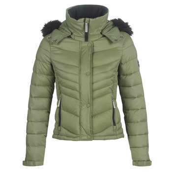 textil Dam Täckjackor Superdry FUJI SLIM 3 IN 1 JACKET Kaki