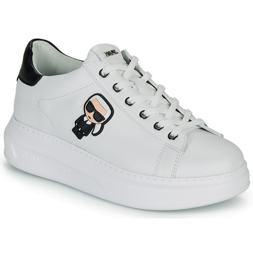 Skor Dam Sneakers Karl Lagerfeld KAPRI KARL IKONIC LO LACE Vit / Svart