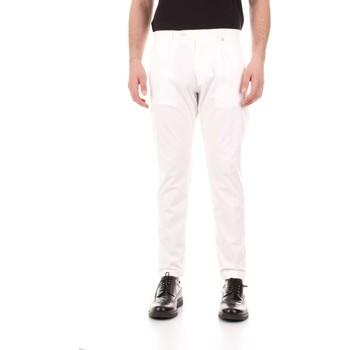 textil Herr 5-ficksbyxor Bicolore F2576-ZINCO Bianco