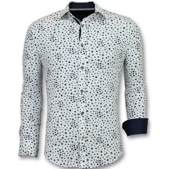 textil Herr Långärmade skjortor Tony Backer Italienska För Vit