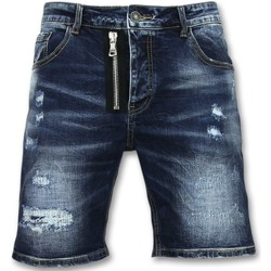 textil Herr Shorts / Bermudas Enos Kläder Shorts Kortbyxor Jeans J Blå