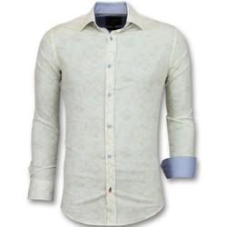 textil Herr Långärmade skjortor Tony Backer Kläder Vit