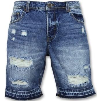 textil Herr Shorts / Bermudas Enos Längre Shorts Jeansshorts J Blå