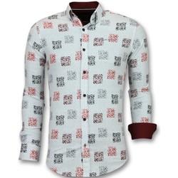 textil Herr Långärmade skjortor Tony Backer Herrs Kjortor Vit