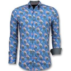 textil Herr Långärmade skjortor Tony Backer Till Italienska Blå